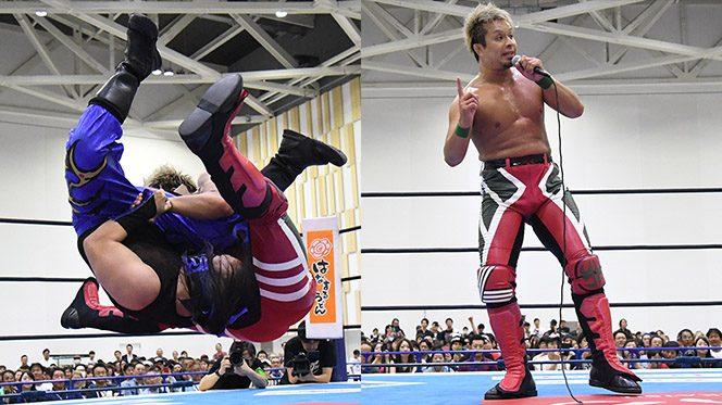 YOSHI-HASHIがザックに宣戦布告!!「あいつのベルトを俺がいただくときも一瞬だ!!」【6.14沼津結果】