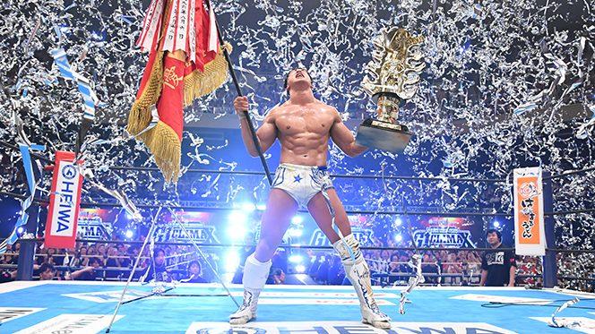 """「新日本プロレスは""""新しい時代""""に進みます!」ジェイとの壮絶マッチを制し、飯伏が悲願の『G1』初優勝!! 【8.12武道館結果】"""