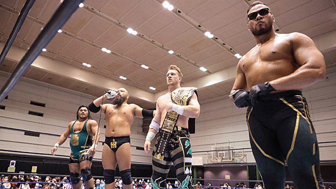 UNITED EMPIREが西日本侵攻を開始! 大阪のリングも完全支配して勝利の雄叫び!【4.22大阪結果】