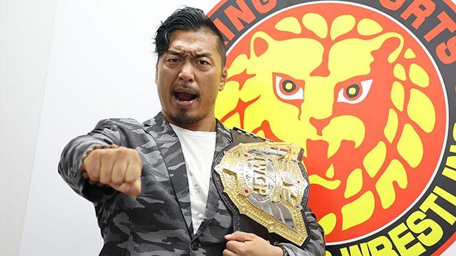 """「本当の意味で""""大復活""""というのを見せるには、『G1』も優勝しなきゃいけない」]  IWGP世界ヘビー級王者・鷹木信悟が""""チャンピオンのまま『G1』優勝""""を宣言!!"""